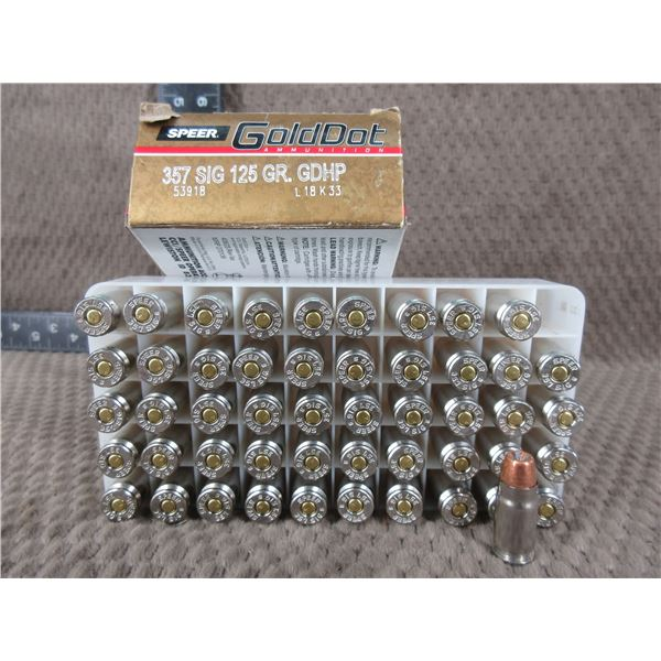 357 SIG. 125 gr, GDHP, GoldDot - Box of 50