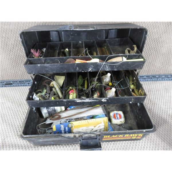 Tackle Box with Various Hooks
