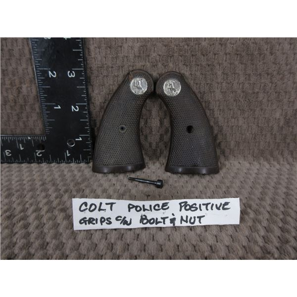 Colt Police Positive Grips with Screw & Nut
