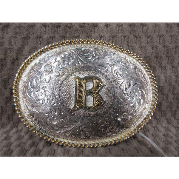 Western Belt Buckle -  Montana Silversmith