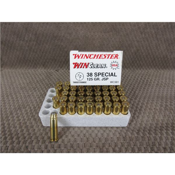 38 Special, 125 gr, JSP, Winchester - Box of 44