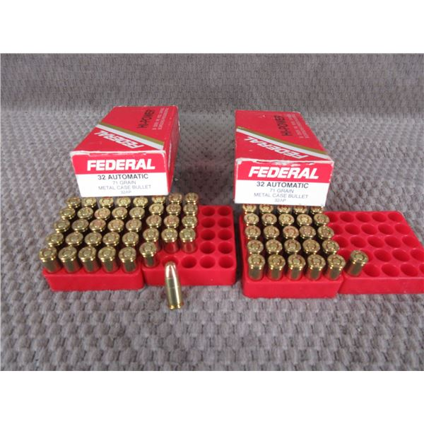 32 Auto, 71 gr, MCB, Federal - Box of 39 Box of 26