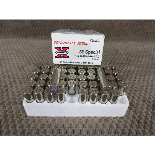 38 Special, 158 gr, SW, Winchester - Box of 50