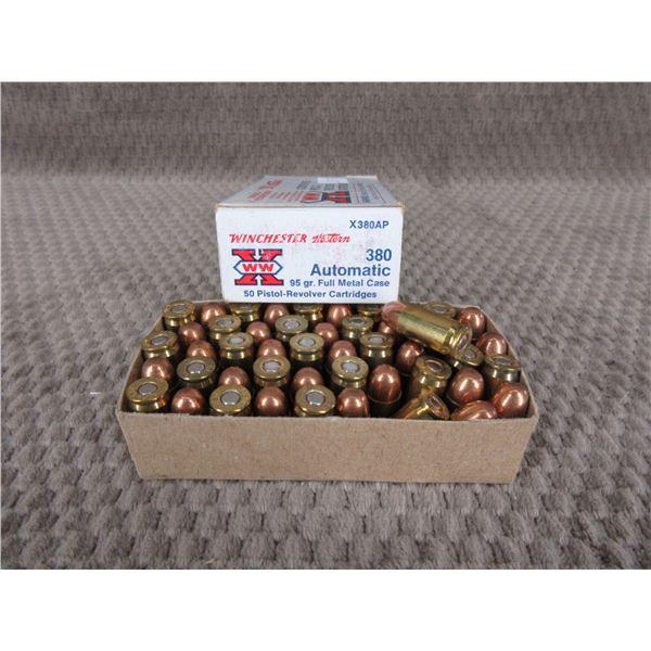 380 Auto 95 gr, FMC, Winchester - Box of 49