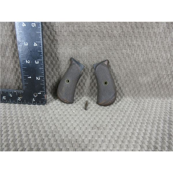Unknown Small Wood Pistol Grips with Screw