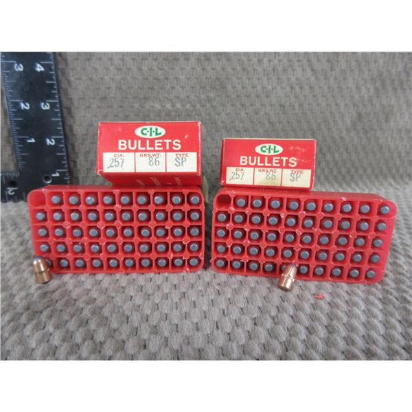 CIL 257 Cal, 86 gr, .257 SP - 2 Boxes of 50