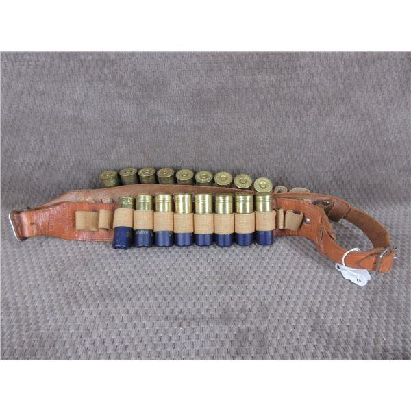 Shotgun Cartridge Belt with 17 Rounds of 12 Gauge