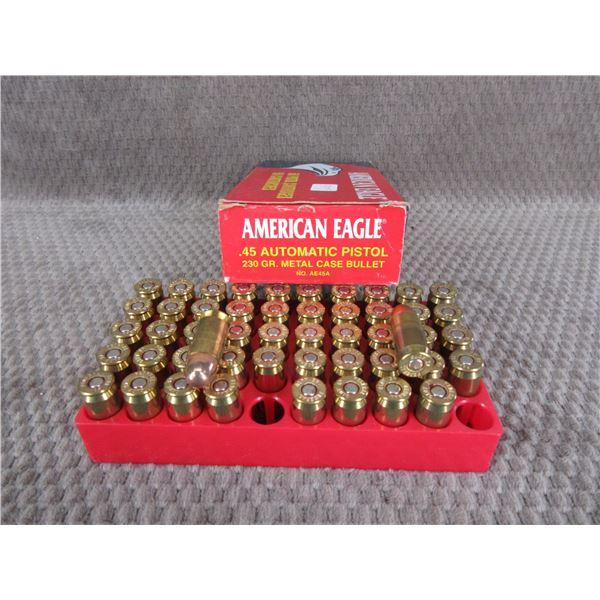 45 Auto, 230 gr, MC, American Eagle - Box of 50