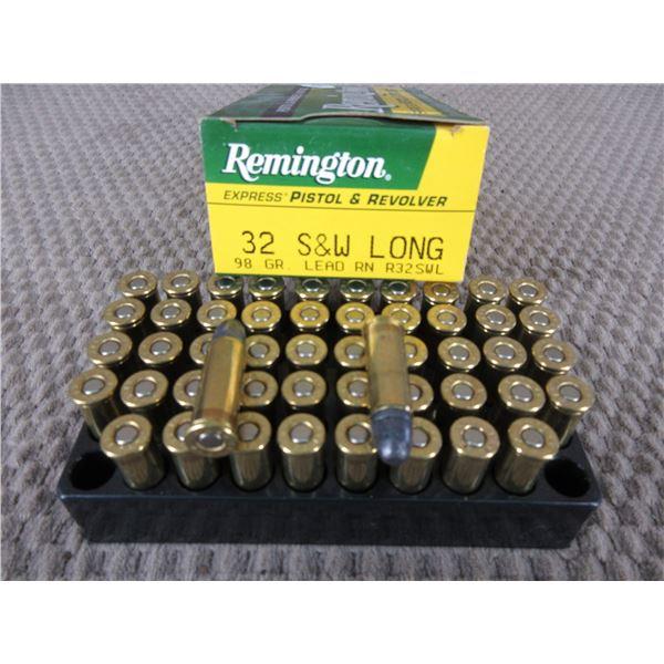 32 S&W 98 gr, Lead RN. Remintgon - Box of 50