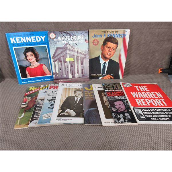 11 Vintage Magazine & Special Reports on JFK