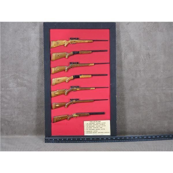 Hand Made Display of Weatherby Guns by E. Chudzik