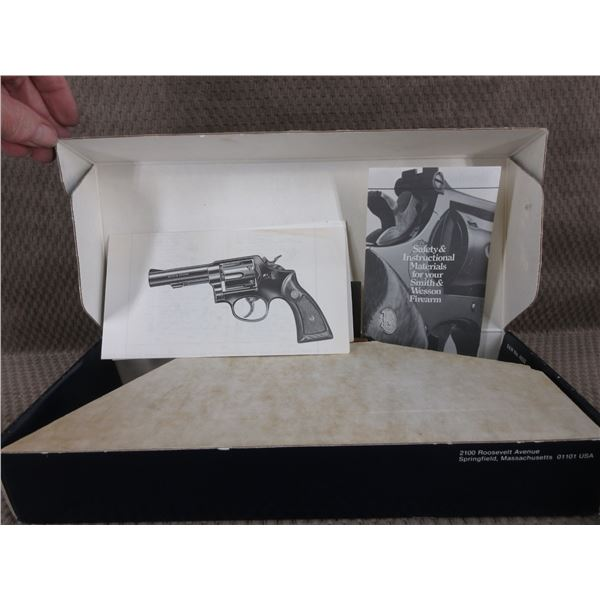 S&W Model 10 Empty Box with some papers