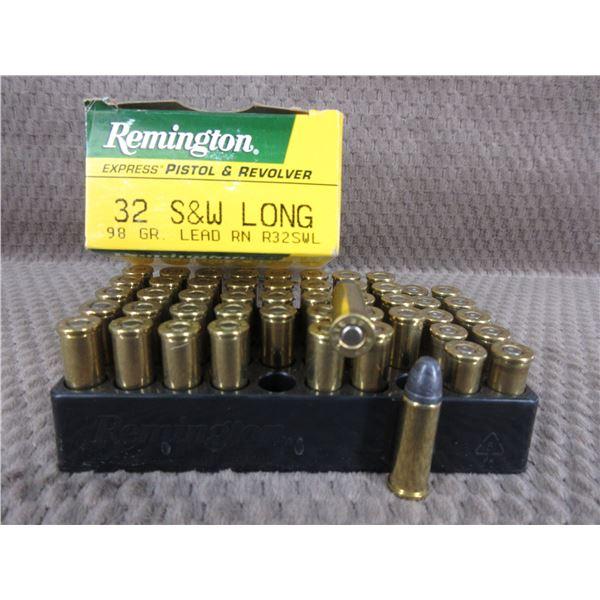 32 S&W Long, 98 gr, Lead RN, Rem - Box of 40 & 10 Brass