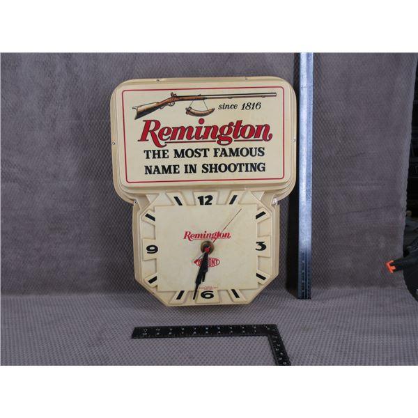 Vintage Remington Lighted Clock Sign (Clock Works)