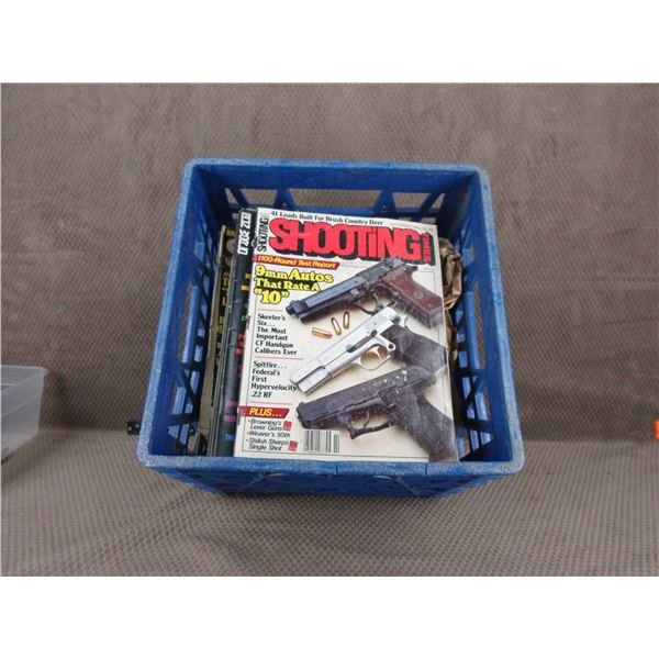 Milk Crate of Gun Magazines