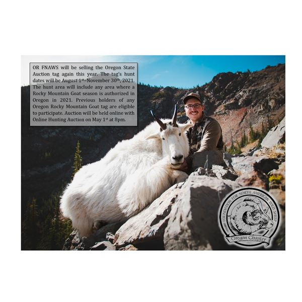 Oregon Rocky Mountain Goat Auction Tag - OR FNAWS
