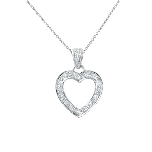 Natural 0.50 CTW Diamond Necklace 18K White Gold - REF-81T2X
