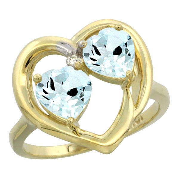 2.60 CTW Aquamarine Ring 10K Yellow Gold - REF-32F2N