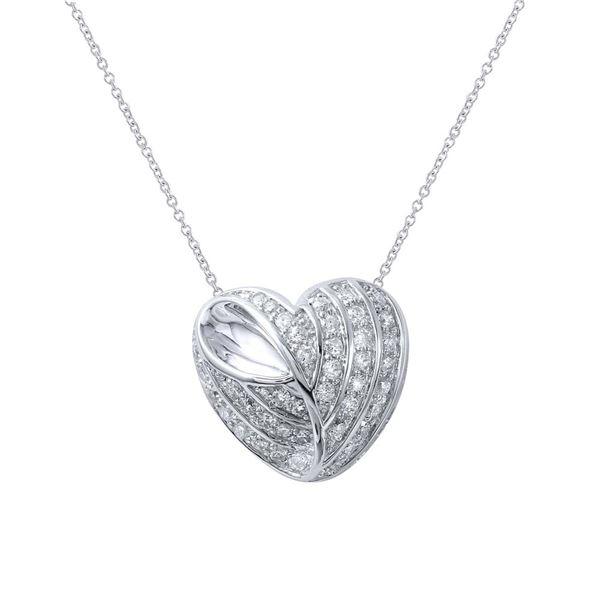 Natural 0.71 CTW Diamond Necklace 18K White Gold - REF-144K9R
