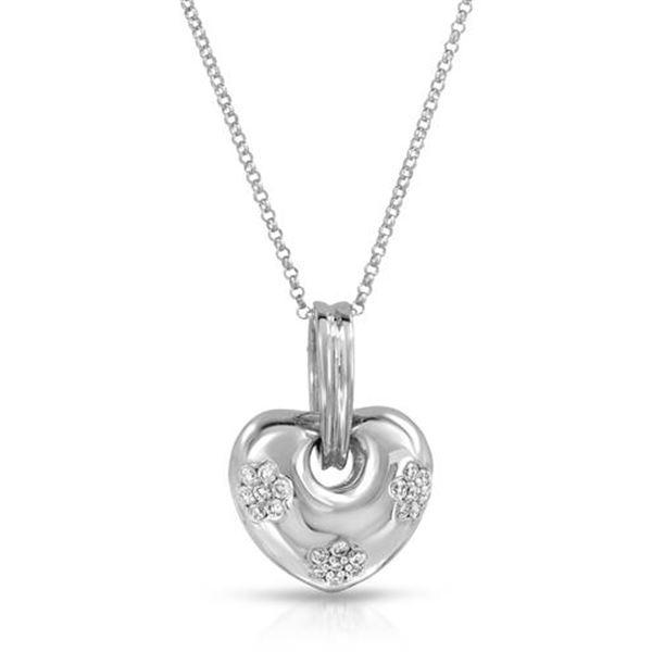 Natural 0.28 CTW Diamond Necklace 18K White Gold - REF-85K5R