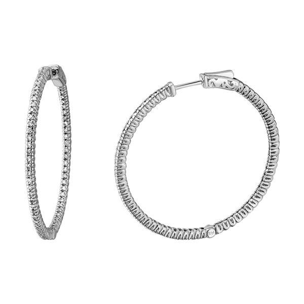 Natural 1.21 CTW Diamond Earrings 14K White Gold - REF-216N9Y