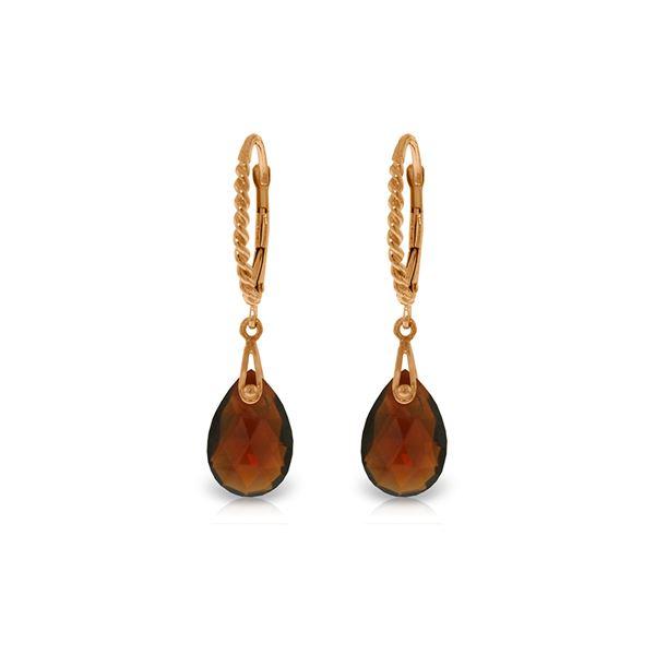 Genuine 6 ctw Garnet Earrings 14KT Rose Gold - REF-30F6Z