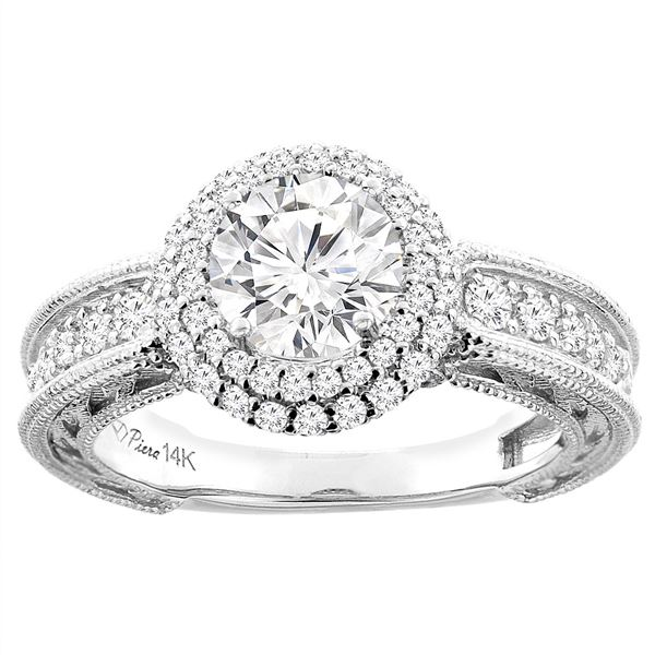 1.24 CTW Diamond Ring 14K White Gold - REF-278V2R