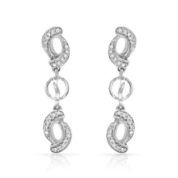 Natural 0.18 CTW Diamond Earrings 14K White Gold - REF-31N5Y