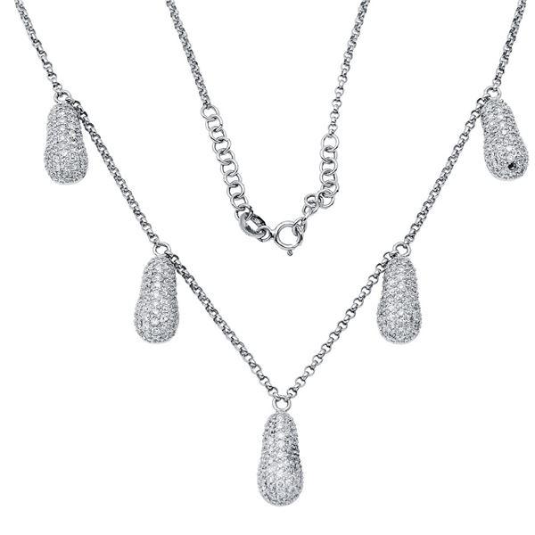 Natural 2.24 CTW Diamond Necklace 18K White Gold - REF-186T3X