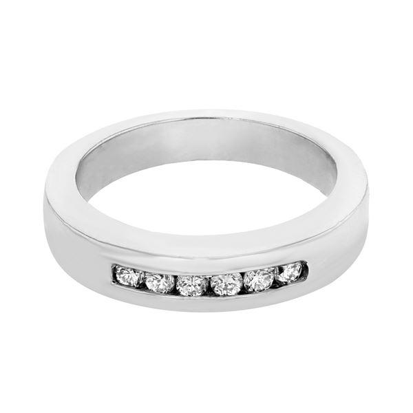 Natural 0.24 CTW Diamond Band Ring Platinum - REF-144K2R