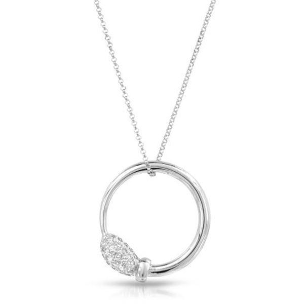 Natural 0.27 CTW Diamond Necklace 14K White Gold - REF-47T7X