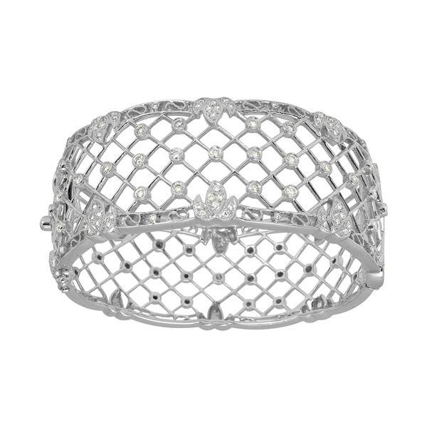 Natural 1.51 CTW Diamond & Bracelet 18K White Gold - REF-615K6R