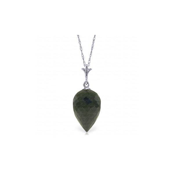 Genuine 12.25 ctw Black Spinel Necklace 14KT White Gold - REF-20F3Z