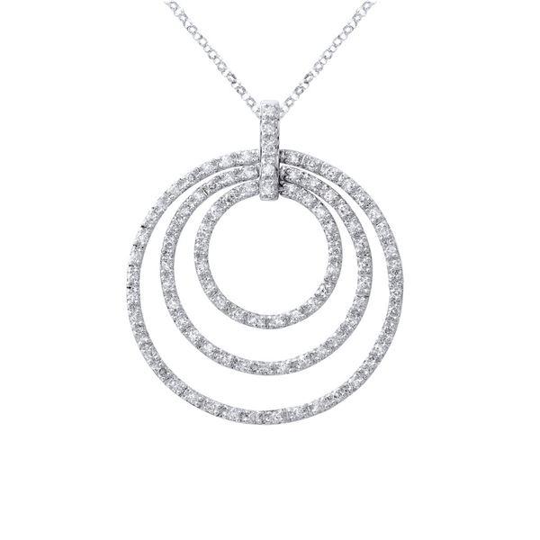 Natural 1.50 CTW Diamond Necklace 14K White Gold - REF-123F3M