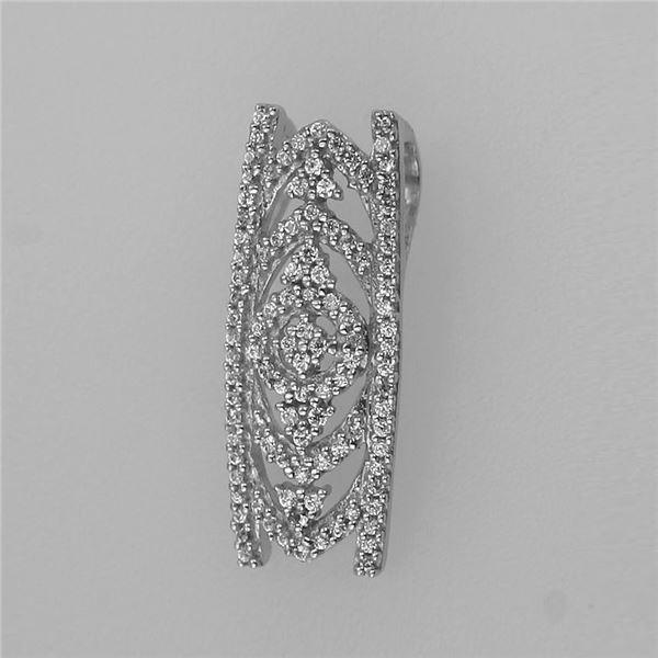 Natural 0.20 CTW Diamond Necklace 14K White Gold - REF-49K5R