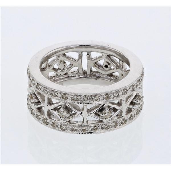 Natural 0.41 CTW Diamond Ring 14K White Gold - REF-92N7Y