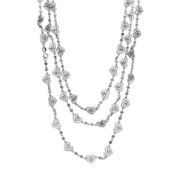 Natural 4.75 CTW Diamond Necklace 14K White Gold - REF-685F8M