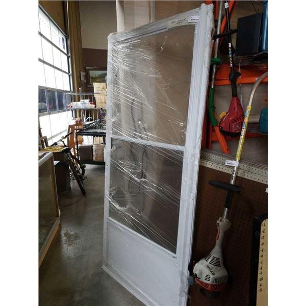 36 X 80 INCH GLASS AND SCREEN DOOR