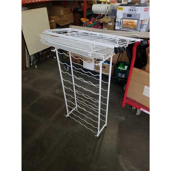 Vegetable metal rack and wine rack