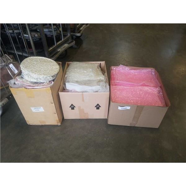 3 BOXES OF BUBBLE WRAP BAGS, PACKING MATERIALS