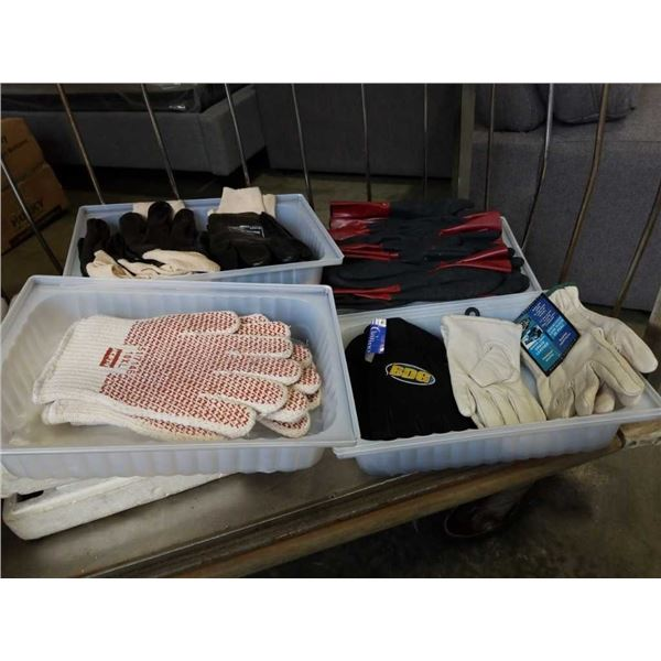 Lot of New work and safety gloves