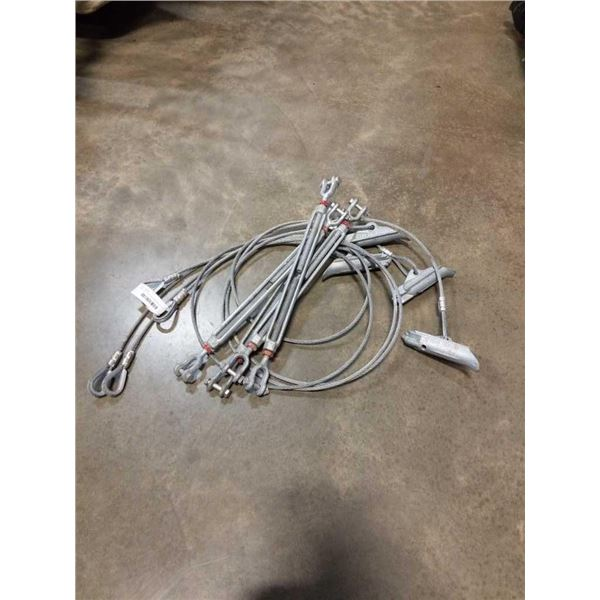 WIRE CABLE GROUND ANCHORS AND BOLT TURNBUCKLES