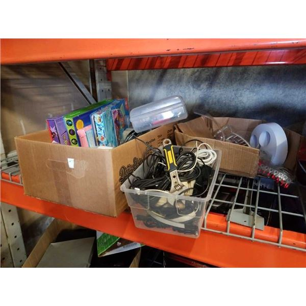 Lot of kids books, tools and electrical connectors