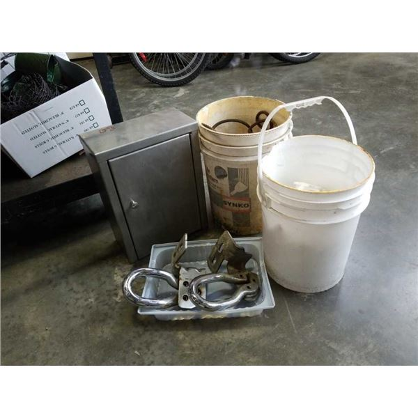 Stainless steel cabinet with bolt on Towing hooks, slings & Jug spouts