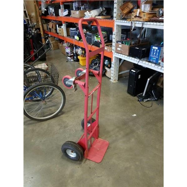Red convertible 2/4 wheel dolly