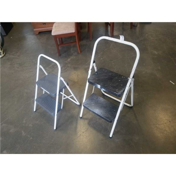 TWO 2 STEP LADDERS