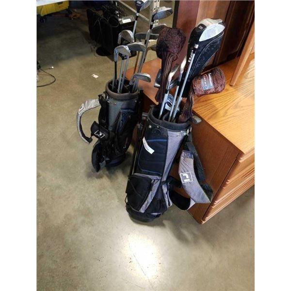 2 SMALL BAGS OF GOLF CLUBS