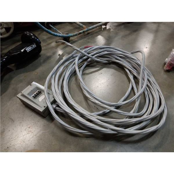 Approx 30 ft of 300 volt cable with junction fuse box