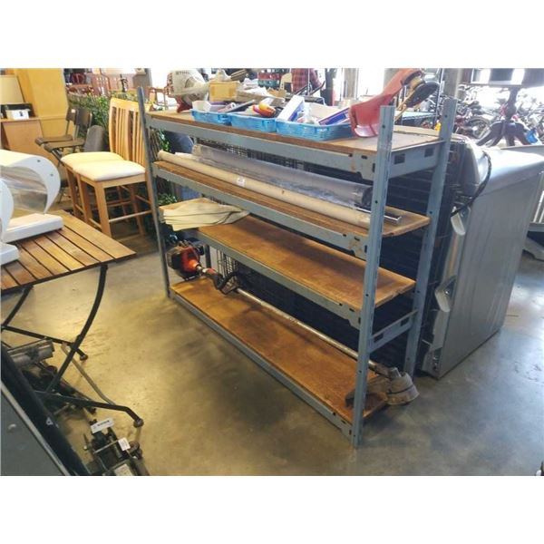 4 tier ez rect shelf unit - 4 foot high, 63 inches long, 1 foot deep 5 foot long shelves