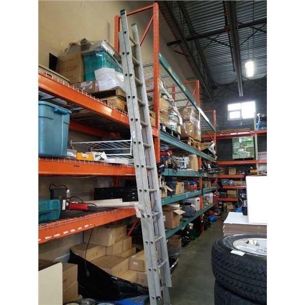 20 foot extended aluminum ladder